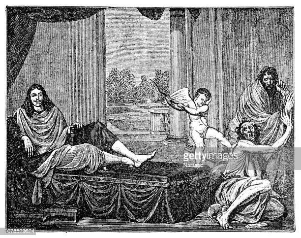 モリエールやジャン = バティスト Poquelin、1622-1673、フランスの俳優、劇場監督、脚本家。偽善をアンマスク