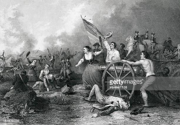molly pitcher - american revolution stock illustrations