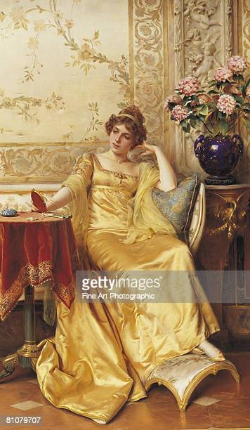 a moment of reflection - one young woman only stock illustrations
