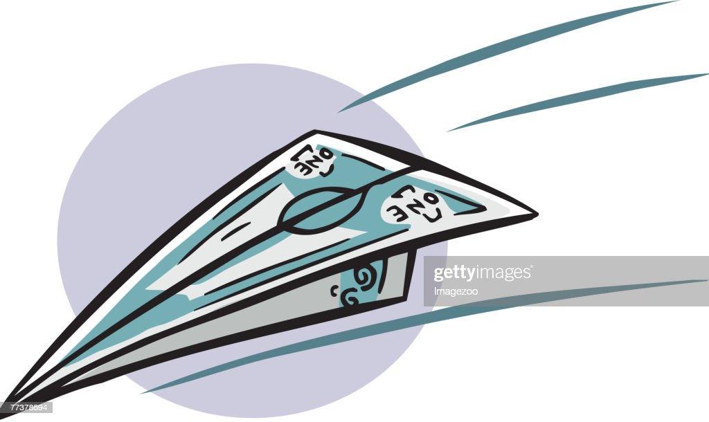 money airplane : Illustration