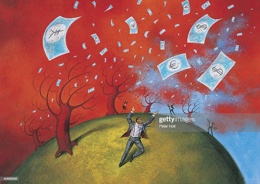 Money From Heaven : stock illustration