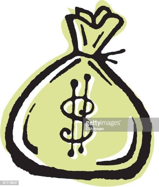 money - money bag stock illustrations