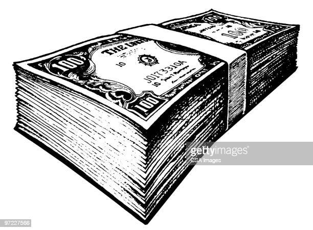 money - stack stock illustrations