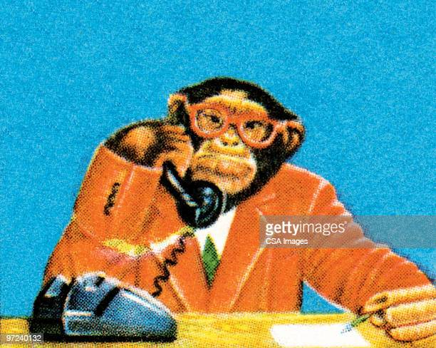 a monkey could do this job - corporate business stock illustrations