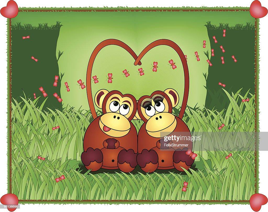 Открытки обезьянки любовь, года
