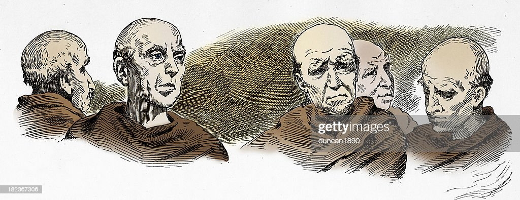 Monks : stock illustration