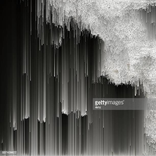 Monochrome Digital Texture Abstract Glitch Art