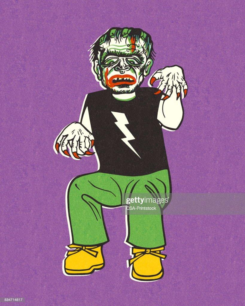 Monster Costume : stock illustration