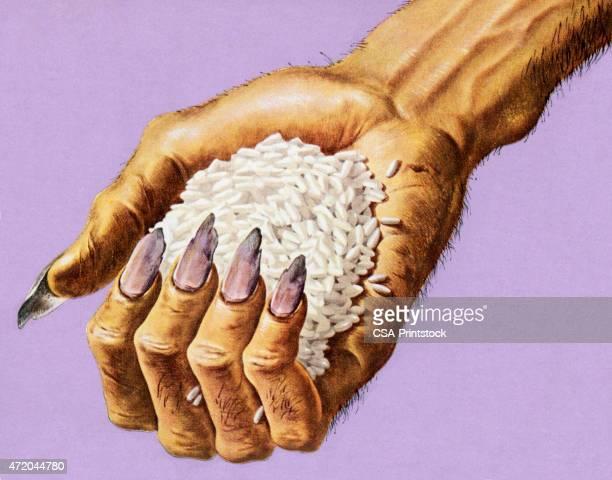 Monster Hand Holding Rice