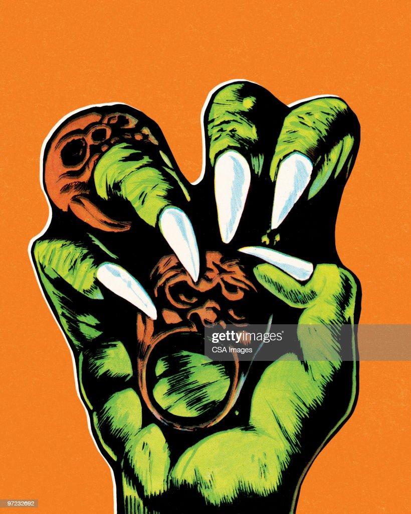 Monster hand : stock illustration