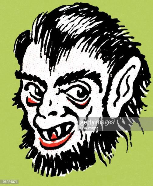 monster - werewolf stock illustrations, clip art, cartoons, & icons