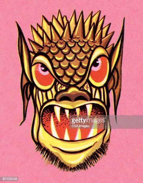 monster - ugliness stock illustrations, clip art, cartoons, & icons