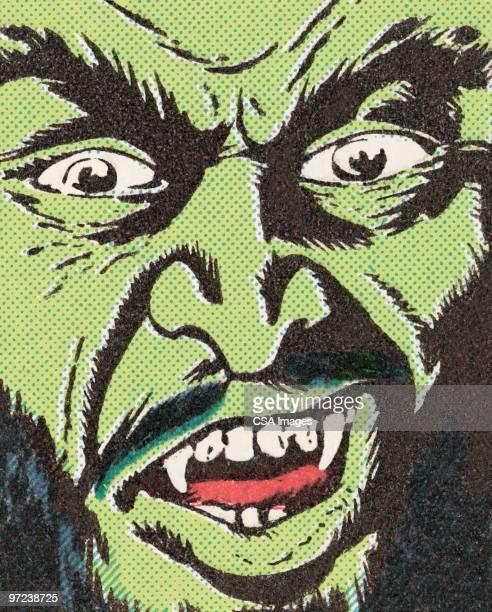 ilustraciones, imágenes clip art, dibujos animados e iconos de stock de monster - vampiro