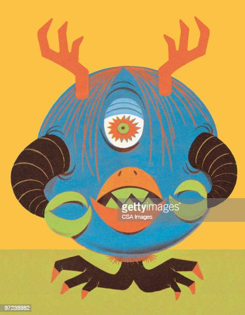 monster - cyclops stock illustrations, clip art, cartoons, & icons