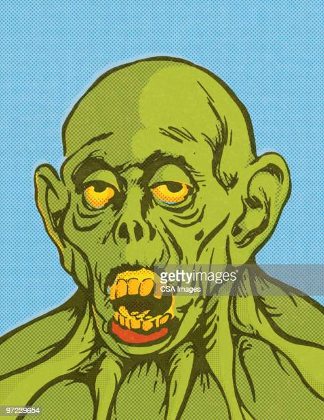 monster - zombie stock illustrations, clip art, cartoons, & icons