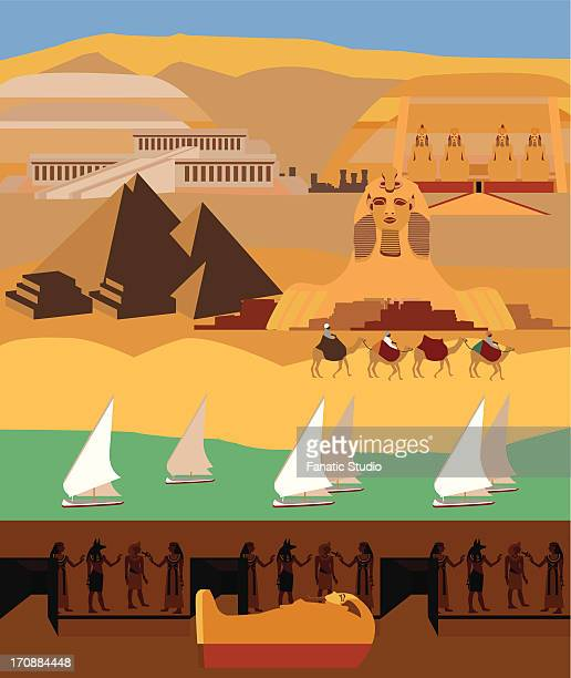 Montage of the tourist attractions of Egypt