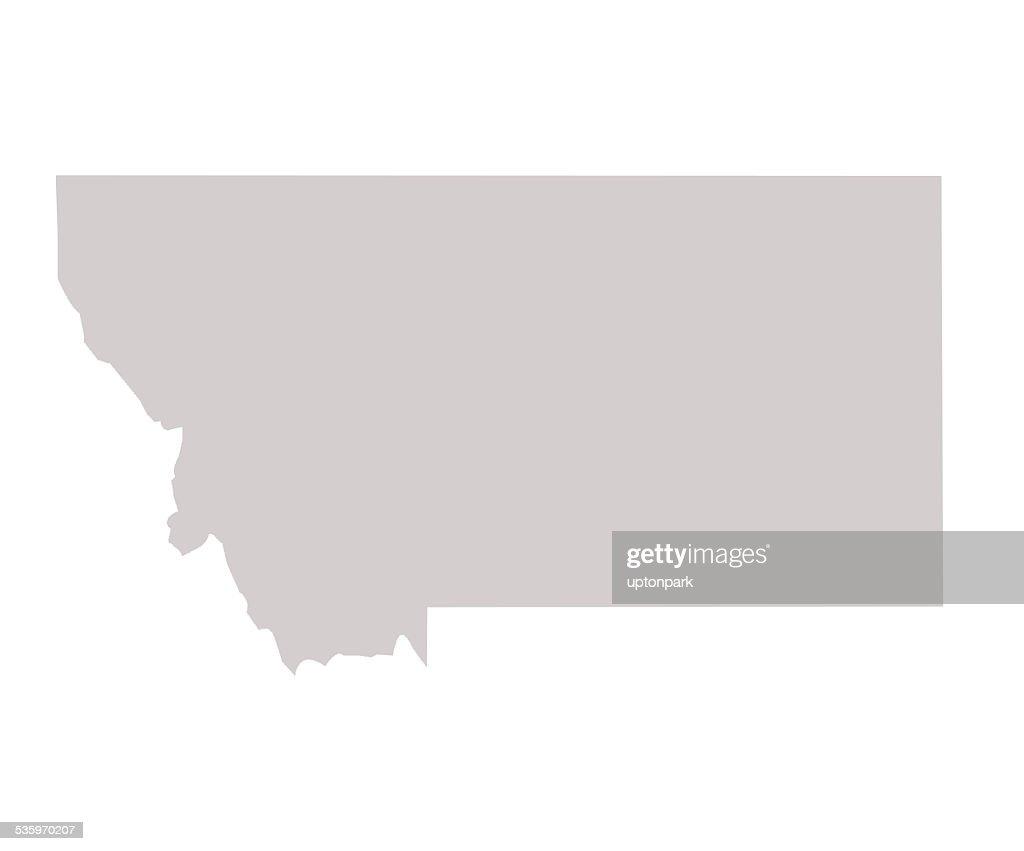 Montana State map : Stock Illustration