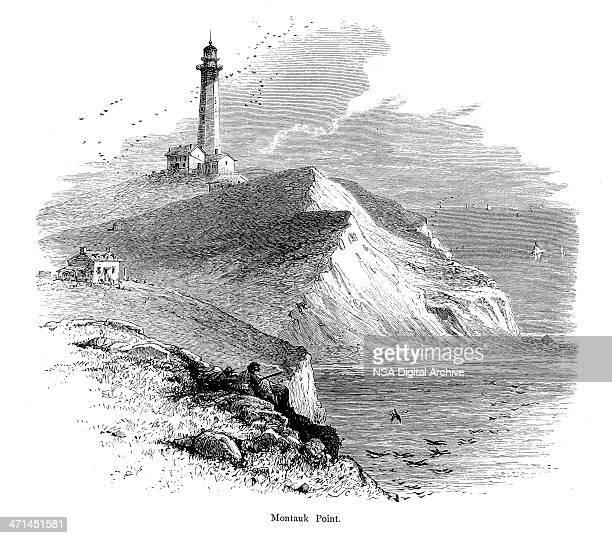 Montauk Point, Eastern Long Island | Historic American Illustrations