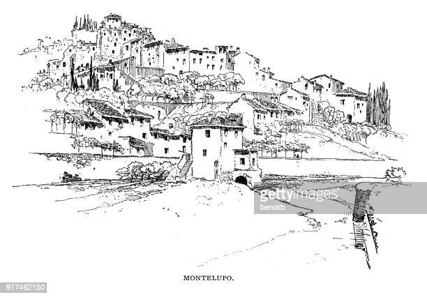 montelupo in florence italy - tuscany stock illustrations, clip art, cartoons, & icons