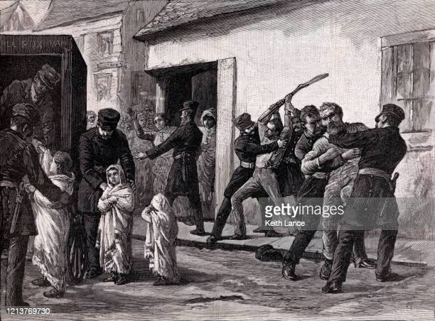 montreal smallpox epidemic of 1885 - epidemic stock illustrations