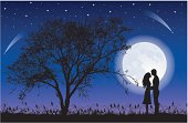 Moon and tree.