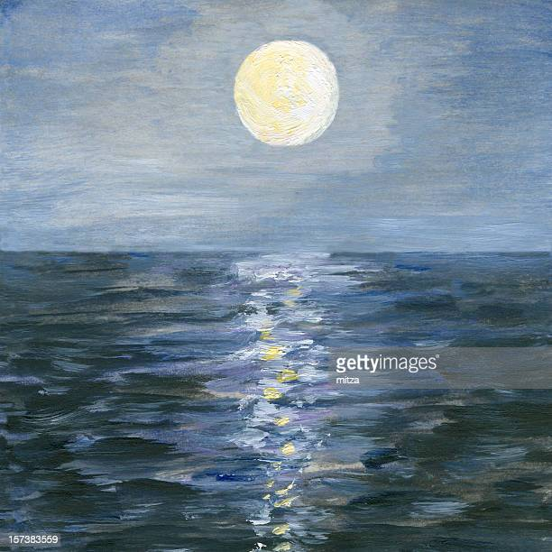 Best Windows For Desert Climate Reflections Series: Moonlight Stock Illustrations And Cartoons