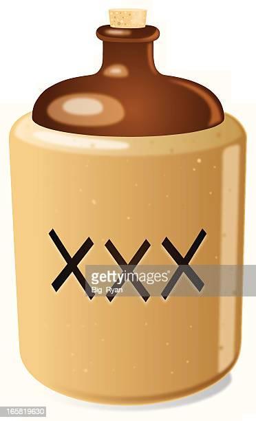 moonshine 水差し - 密造酒点のイラスト素材/クリップアート素材/マンガ素材/アイコン素材