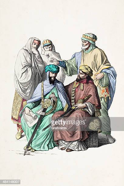 Moorish princes in traditional clothing 9th century
