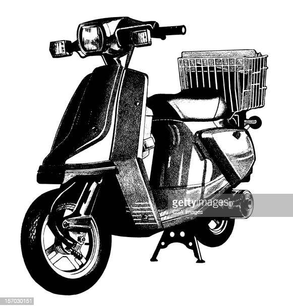 moped - moped stock illustrations, clip art, cartoons, & icons