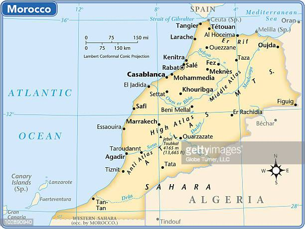 morocco country map - canary islands stock illustrations, clip art, cartoons, & icons