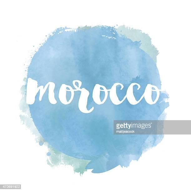 Morocco watercolour background