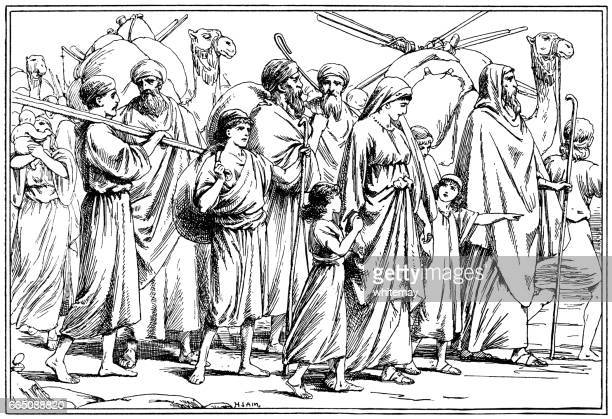 Moses leading the exodus of Israelites from Egypt