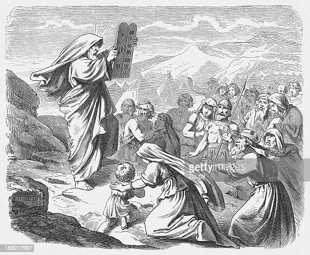 モーゼズ、新タブレット(exodus 34 ,29-33 - 宗教的人物 モーゼ点のイラスト素材/クリップアート素材/マンガ素材/アイコン素材