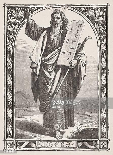 モーゼズ、タブレットの法律 - 宗教的人物 モーゼ点のイラスト素材/クリップアート素材/マンガ素材/アイコン素材