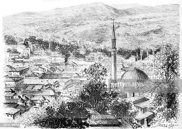 mostar hercegovina - montenegro stock illustrations, clip art, cartoons, & icons