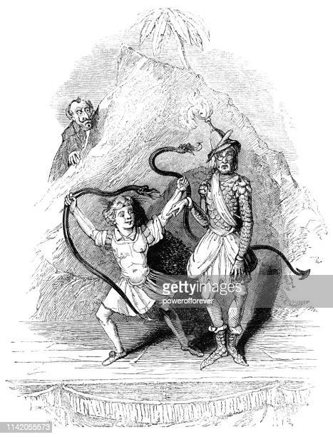 Moth Portraying Hercules Strangling the Snakes - Works of William Shakespeare
