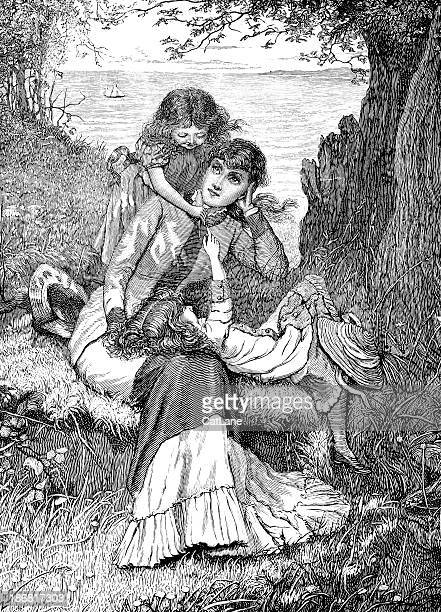 Mother and Children - Victorian Illustration