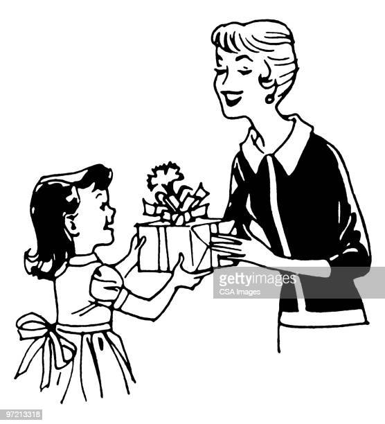 mother's day - mothers day stock illustrations