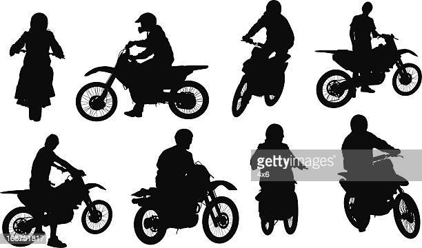 motocross motorcycle riders - motorcycle helmet isolated stock illustrations, clip art, cartoons, & icons