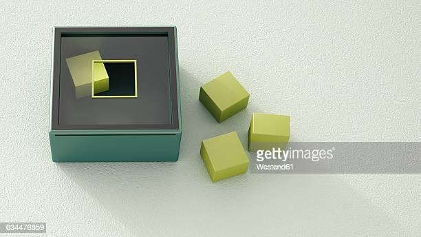 motor skill toy - triangle shape stock illustrations