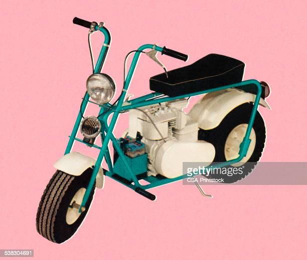 motorbike - moped stock illustrations, clip art, cartoons, & icons