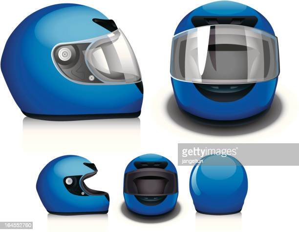 motorcycle helmet - work helmet stock illustrations