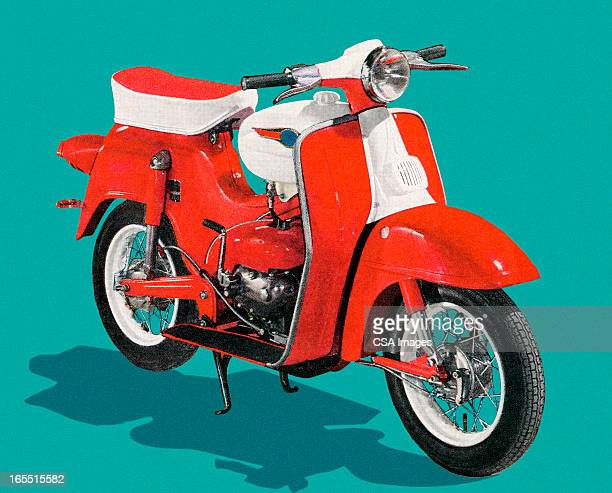 motorcycle - moped stock illustrations, clip art, cartoons, & icons
