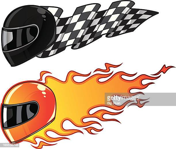 motorcycle race - motorcycle helmet stock illustrations, clip art, cartoons, & icons