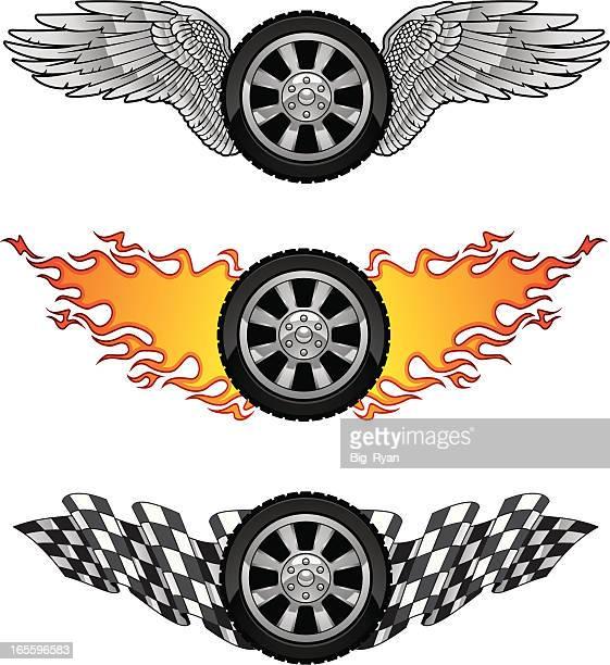 motorsports - animal wing stock illustrations