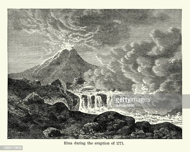 Mount Etna during the eruption of 1771