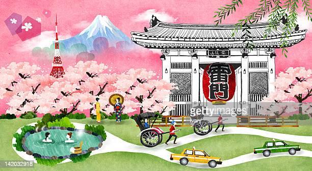 Mount Fuji With A Pagoda