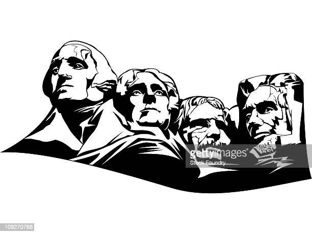 Mt Rushmore National Monument Stock Illustrations And
