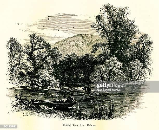 mount tom, massachusetts - connecticut river stock illustrations, clip art, cartoons, & icons