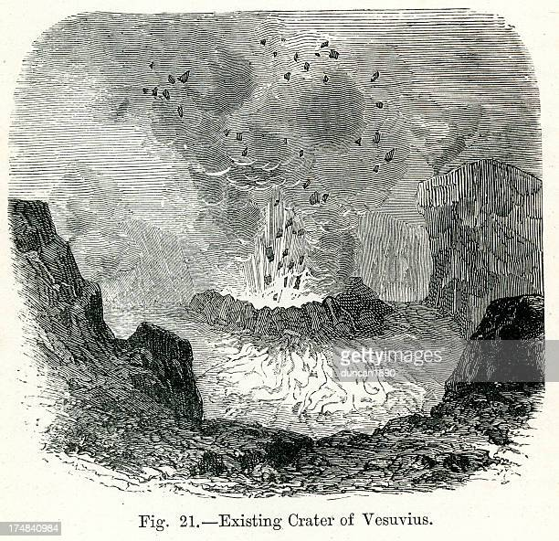mount vesuvius - volcanic crater stock illustrations, clip art, cartoons, & icons